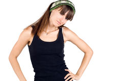 Girl in warm bandanna Stock Photo