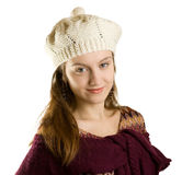 Girl with a warm cap Stock Images