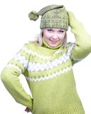 Girl in warm clothes Royalty Free Stock Images