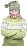 Girl in warm clothes Stock Photos
