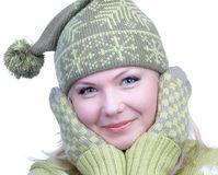 Girl in warm clothes Stock Photography