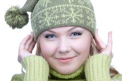 Girl in warm clothes Royalty Free Stock Photo