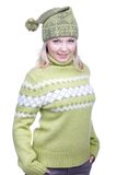 Girl in warm clothes Stock Image