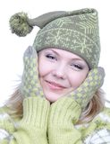 Girl in warm clothes Stock Photo