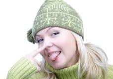 Girl in warm clothes Stock Photos