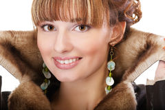 Girl in warm clothes Royalty Free Stock Photos