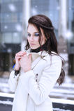 Girl in warm clothes. Stock Image