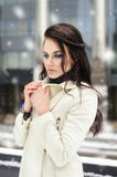Girl in warm clothes.fashion ,beauty girl Stock Photo