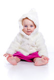 Girl with a warm coat Stock Image