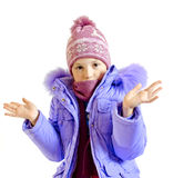 The girl in a warm jacket Royalty Free Stock Photo