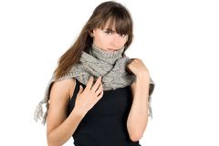 Girl in warm scarf Stock Photo