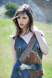 Girl-warrior Stock Photo