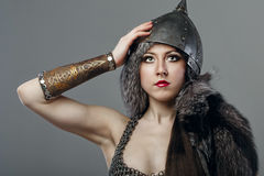 Girl warrior Royalty Free Stock Images