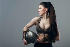 Girl warrior Stock Images