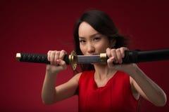 Girl warrior Royalty Free Stock Photos