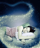 The girl was asleep Royalty Free Stock Photography