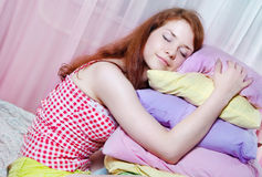 The girl was asleep Stock Images