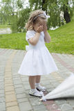 Girl was lost and upset Royalty Free Stock Photo