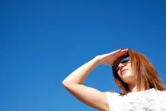 Girl watching Stock Photography