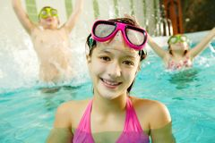 Girl in water Royalty Free Stock Photography