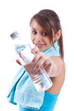 Girl an water Stock Photo