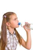 Girl with a water . Royalty Free Stock Image