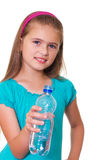 Girl with a water . Stock Photography