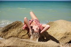 Girl in water Royalty Free Stock Photos