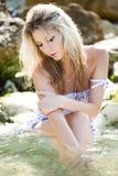 Girl in water Stock Photo