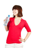 Girl with a water bottle Stock Image