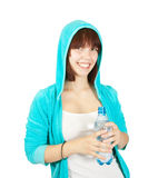 Girl with water bottle Stock Image