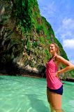 Girl in water, Phi Phi Islands, Thailand Royalty Free Stock Image