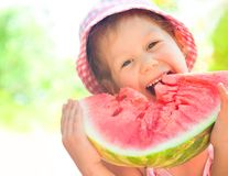 Girl with watermelon Royalty Free Stock Image
