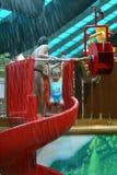 Girl in waterpark Stock Photo