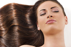 Girl with wave in hair Stock Images