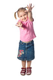 Girl waving Royalty Free Stock Photo