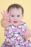 Girl waving Royalty Free Stock Image
