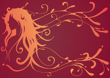 Girl with wavy hair Stock Images