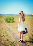 Girl on the way Royalty Free Stock Photo