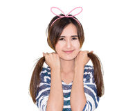 Girl wear hairband Stock Images