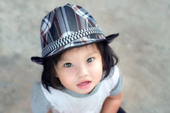 Girl wear hat Royalty Free Stock Photo