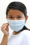 Girl wear mask Stock Photo
