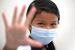 Girl wear mask Stock Photos