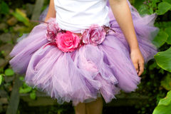 Girl wearing a ballet tutu. Stock Image