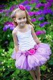Girl wearing a ballet tutu. Royalty Free Stock Photos