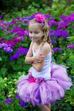 Girl wearing a ballet tutu. Royalty Free Stock Photo