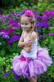 Girl wearing a ballet tutu. Royalty Free Stock Photo