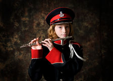 Girl wearing band uniform Stock Images