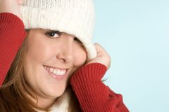 Girl Wearing Beanie Stock Photography