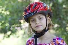Girl wearing a bike helmet - portrait Royalty Free Stock Image